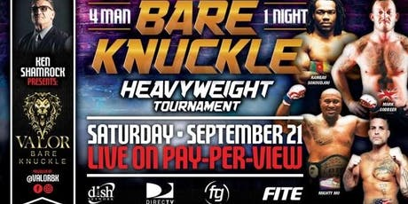 PPV Bare Knuckle Heavyweight Tournament tickets