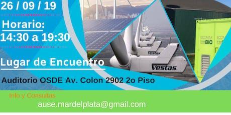 Jornada de Energías Renovables Ind. Argentina //Mar del Plata Septiembre entradas