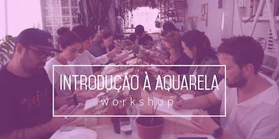 Workshop de introdução à aquarela