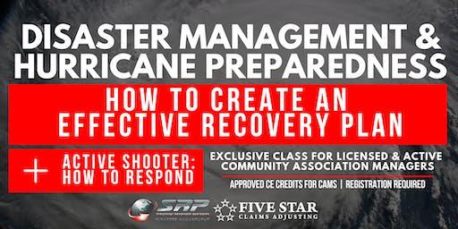 Disaster Management and Hurricane Preparedness