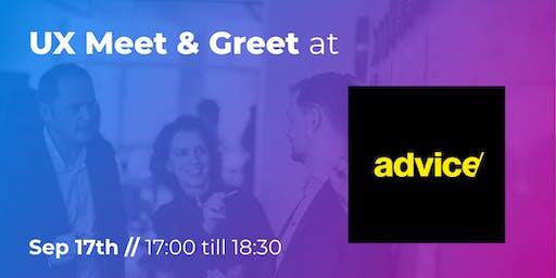 UX Meet & Greet at Advice