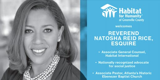 Luncheon with Rev. Natosha Reid Rice and Habitat for Humanity Greenville