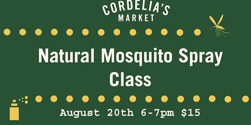 Natural Mosquito Spray Class