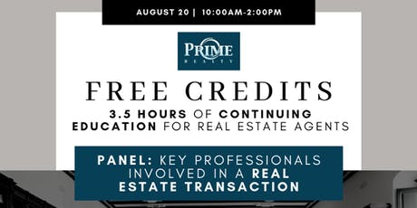Key Professionals Involved  in a Real Estate Transaction (PANEL) tickets