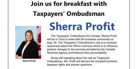 Breakfast with Taxpayers' Ombudsman tickets