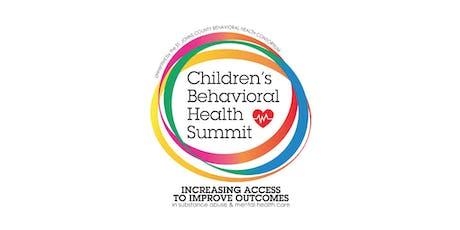 SJC: Children's Behavioral Health Summit 2019 tickets