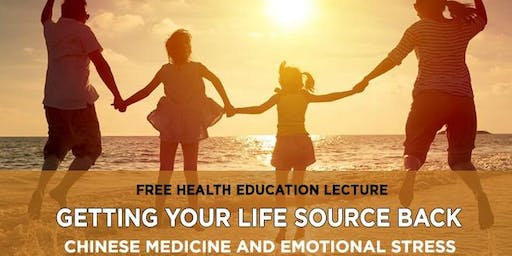 Getting Your Life Source Back, CM & Emotional Stress