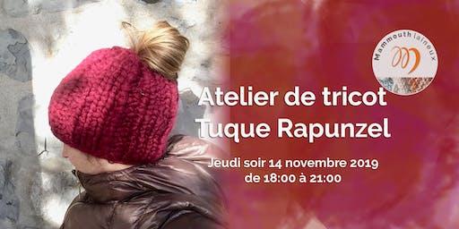Tricot chez Pin-So - La tuque Rapunzel - JEU SR