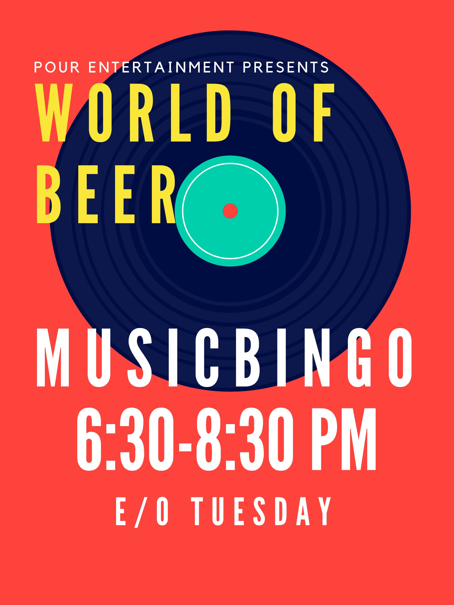 MUSIC BINGO at WORLD OF BEER - EPICENTER