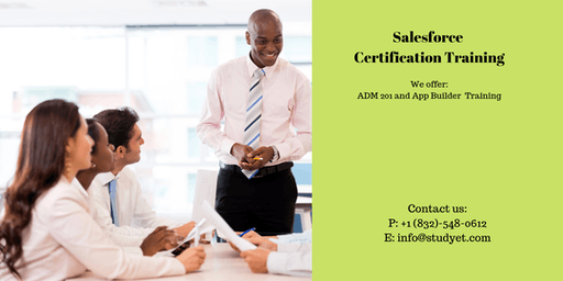 Salesforce Admin 201 & App Builder Certification Training in Redding, CA
