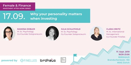 Female & Finance #1 - Why your personality matters when investing Tickets