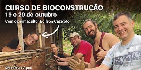 Curso de Bioconstrução - outubro ingressos