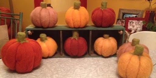 Needle Felting: Pumpkins