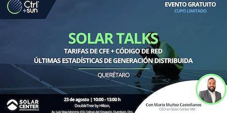 Solar Talks / Últimas estadísticas del mercado + Tarifas de CFE en media tensión boletos