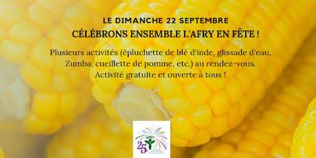 AFRY EN FÊTE : journée familiale en français avec lever de drapeau tickets