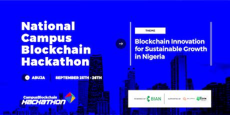 National Campus Blockchain Hackathon tickets