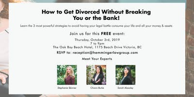 How to Get Divorced Without Breaking You or the Bank!