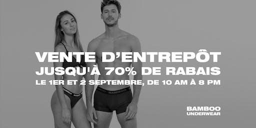 Vente d'Entrepôt Bamboo Underwear - Ville de Québec