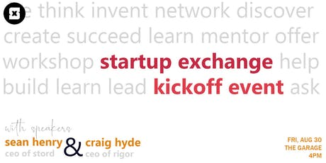 Startup Exchange Kickoff Fall 2019 tickets
