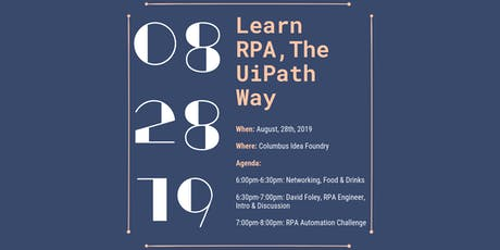 Learn RPA - The UiPath Way tickets