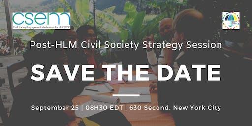 Post-HLM Civil Society Strategy Session