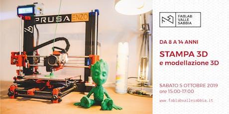 Stampa 3D e modellazione 3D - Laboratorio da 8 a 14 anni biglietti