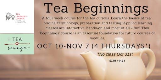 Tea Beginnings (4 weeks)