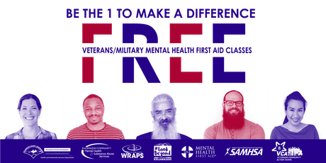 VETERANS/MILITARY Mental Health First Aid: SEPT. 28 at Kal. County Health & Community Services tickets