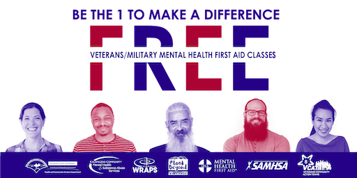 VETERANS/MILITARY Mental Health First Aid: SEPT. 28 at Kal. County Health & Community Services