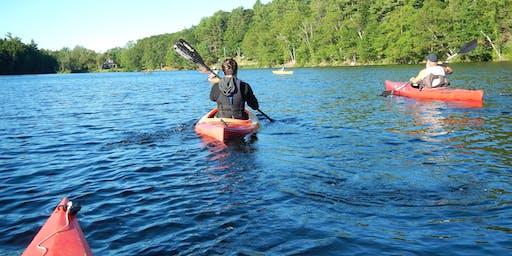 Kayaking 101, Minnehonk Lake, Mt. Vernon