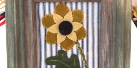 Folk Art Sunflower Wool Applique tickets