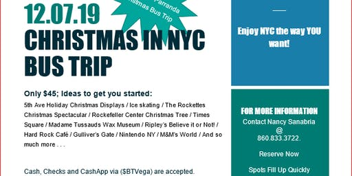 3rd Annual Parranda Party Bus Trip-Christmas In NYC