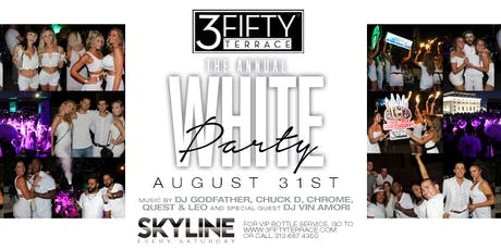 The Annual White Party at 3Fifty Terrace on Saturday, August 31st! tickets