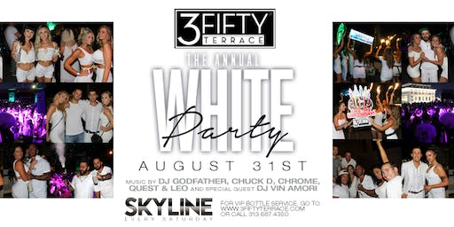 The Annual White Party at 3Fifty Terrace on Saturday, August 31st!