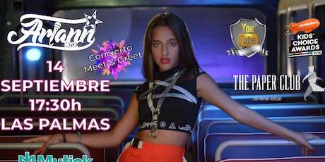 Ariann en Gran Canaria - Concierto The Paper Club tickets