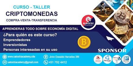CURSO-TALLER: como comprar, vender y transferir criptomonedas entradas