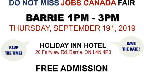 Barrie Job Fair – September 19th, 2019 tickets