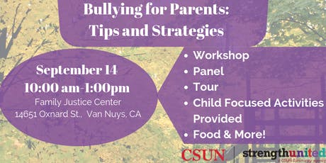 Bullying for Parents: Tips and Strategies (English/Español) tickets
