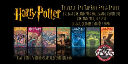 Harry Potter (Books) Trivia at Fat Tap Beer Bar and Eatery