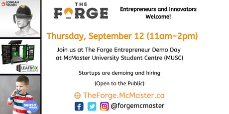 The Forge Entrepreneurship Demo Day at McMaster University Student tickets