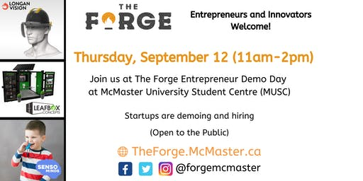 The Forge Entrepreneurship Demo Day at McMaster University Student
