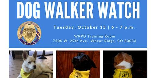 Dog Walker Watch 2019