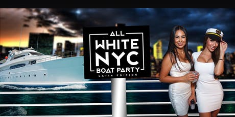 #1 NYC All White Affair Boat Party Yacht Cruise on Mega Yacht INFINITY tickets