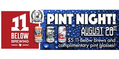 Pint Night with 11 Below Brewing @ Murdoch's Backyard Pub! tickets