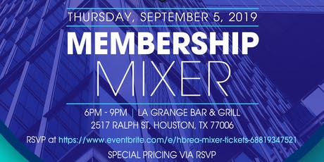 HBREA SEPTEMBER MIXER tickets