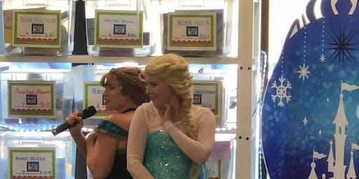 Anna/Elsa sings and dances