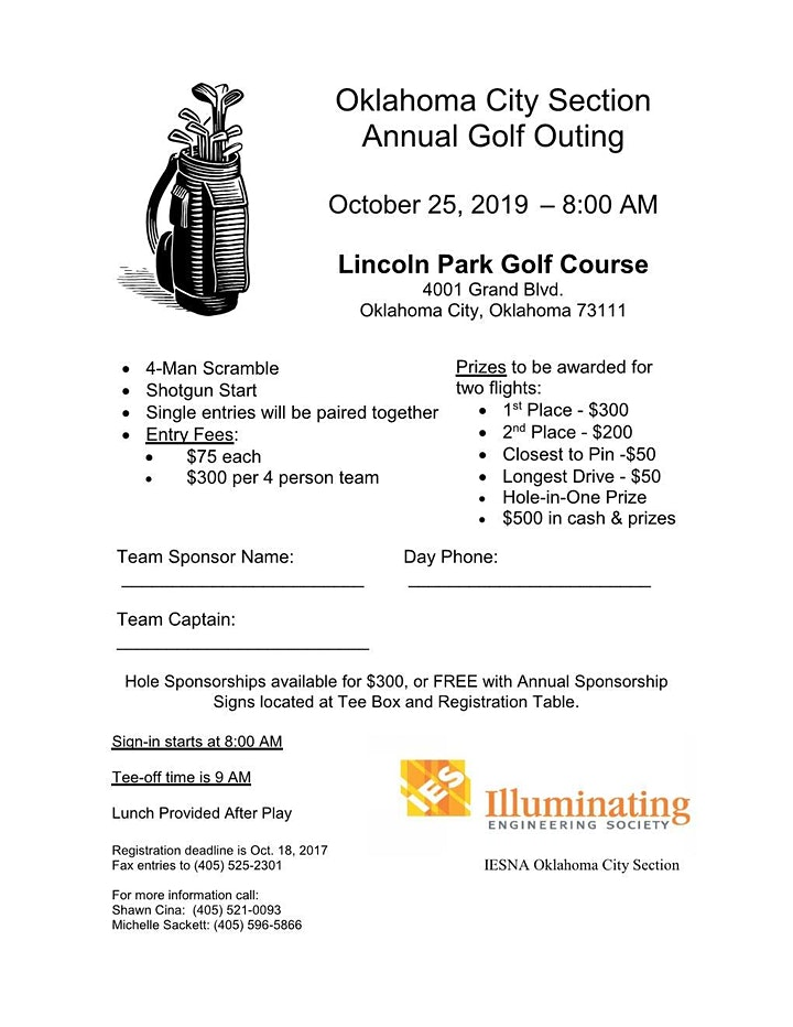 IES Oklahoma City Section Annual Golf Outing image