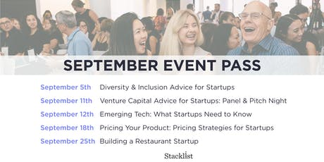 Stacklist September Event Pass tickets