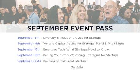 Stacklist September Event Pass tickets