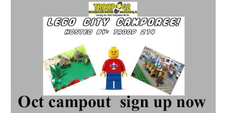 October Campout - Lego City Camporee tickets